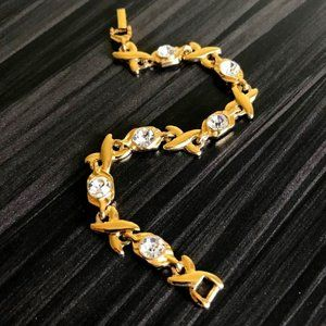 Gold-tone Hugs & Kisses Bracelet